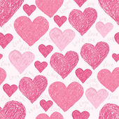 Pink hearts — Vector de stock