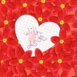 Royalty-Free Stock Imagen vectorial: Flowers and valentine card
