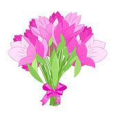 Прекрасный букет розовых тюльпанов — Cтоковый вектор