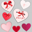 Set of valentine's day cards — Stock Vector