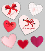 Set of valentine's day cards — Vector de stock