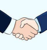 Hand shake illustration — Stock Vector