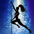 Pole dancer — Vettoriali Stock