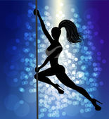 Pole dancer — Stock Vector