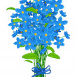 Bouquet of forget-me-not flowers — Stock Vector