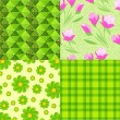 Spring seamless backgrounds — Stock Photo