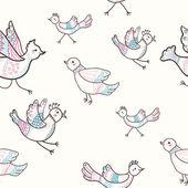 Birds seamless — Stock Vector