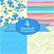 Royalty-Free Stock Vector Image: Cute seamless backgrounds