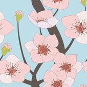 árbol floreciente — Vector de stock