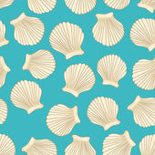 Sea vector seamless pattern — Stock Vector