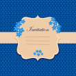 Invitation Card — Vettoriali Stock