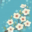 Blooming tree — Vector de stock
