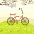Vintage bicycle — Vector de stock