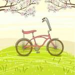 bicyclette vintage — Vecteur