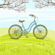 vintage bicycle — Stock Vector