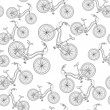 Stock Vector: Bicycles, seamless pattern
