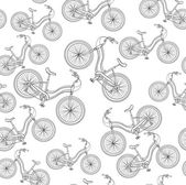 Bicycles, seamless pattern — Stock Vector
