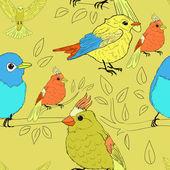 Seamless bird theme pattern — Stock Vector