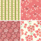 Retro backgrounds with roses — Stock Vector