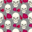 Seamless pattern with skulls — Vecteur #29878709