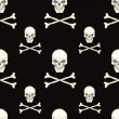 Stockvektor : Seamless pattern with skulls