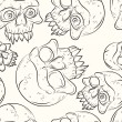 Seamless pattern with skulls — Vetorial Stock #30751355