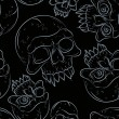 Seamless pattern with skulls — Vector de stock #31074135