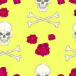 Seamless pattern with skulls — Stockvektor #31718339