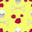 Stock vektor: Seamless pattern with skulls