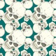 Seamless pattern with skulls — Vettoriali Stock
