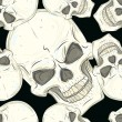 图库矢量图片: Seamless pattern with skulls