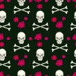 Seamless pattern with skulls — Stock Vector #32634531