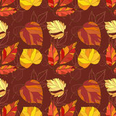 Vector seamless background with autumn leaves — Stock Vector
