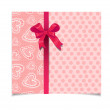 Beautiful vintage pink greeting card — Stock Vector