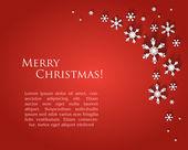 Röd jul bakgrund — Stock vektor