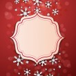 Christmas background and snowflakes vector — Stock Photo