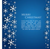 Blue Christmas background — Stock vektor