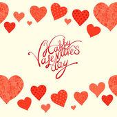 Red heart, valentine's day background — Stockvector