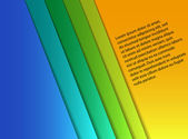Blank colorful paper sheets — Stockvector
