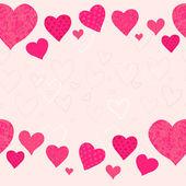 Κόκκινη καρδιά, φόντο ημέρα του Αγίου Βαλεντίνου — Διανυσματικό Αρχείο
