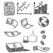 Stock Vector: Hand drawn business icons