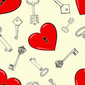 Heart and keys — Vettoriale Stock