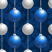 Blue and silver christmas balls — Stock Vector