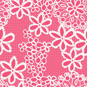 Flower lacy seamless background — Stock Vector