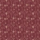 Seamless pattern with retro keys — Stock Vector