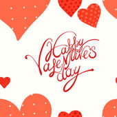 Red heart, valentine's day background — Vector de stock