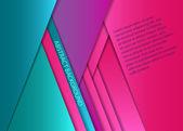 Renkli kağıt yaprak — Stok Vektör