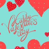 红色的心,情人节那天背景 — 图库矢量图片