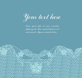 Blue vintage lacy border — Stockvector