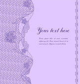 Violet vintage lacy border — Stock Vector